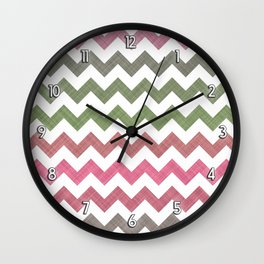 Pink Roses in Anzures 4 Chevron 2T Wall Clock