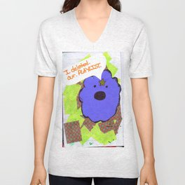 lsp: I DELETED OUR PLAYLIST  Unisex V-Neck