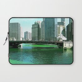 Chicago River on St. Patrick's Day #Chicago Laptop Sleeve