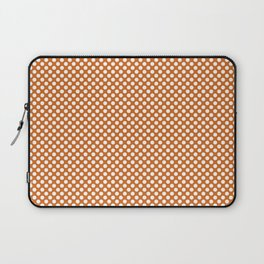 Autumn Maple and White Polka Dots Laptop Sleeve