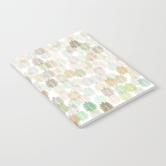 Soft Delicate Colored Leaf Abstract Notebook