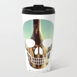 """""""Too much of anything is bad, but too much Champagne is just right"""" Metal Travel Mug"""