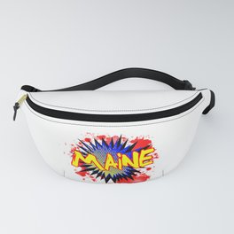 Maine Comic Exclamation Fanny Pack