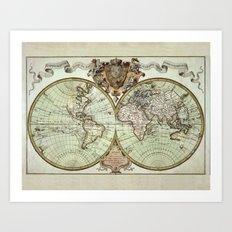 Mappemonde Art Print