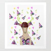 kris tate Art Prints featuring LOLLIPOP WAVVES By Belen Segarra , Elena Mir, Kris Tate  by Serpentine