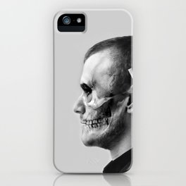 Skull Double Exposure iPhone Case