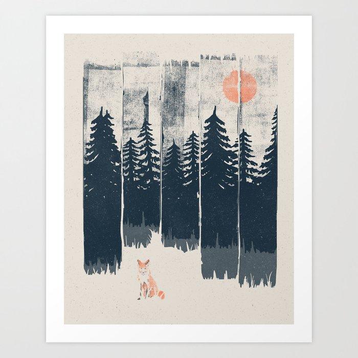 A Fox in the Wild... Kunstdrucke