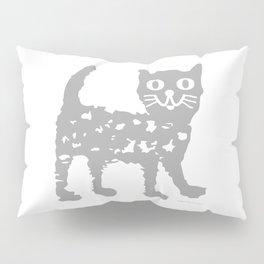 Gray cat pattern Pillow Sham