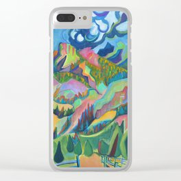 Twin Owls, Rocky Mountain National Park Clear iPhone Case