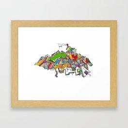 the bird enhanced Framed Art Print