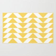 Yellow Triangle Rug