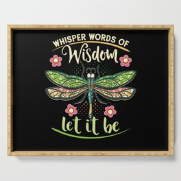 Dragonfly Let It Be Serving Tray