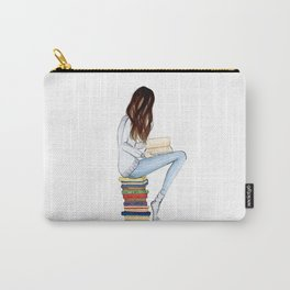 Girl and books Carry-All Pouch