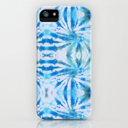 Summer Vibes Tie Dye in Lagoon Blue iPhone Case