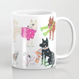 Winter Jindos Coffee Mug