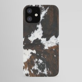 white and brown cow skin cowhide  fur iPhone Case