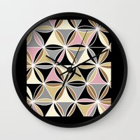 quilt Wall Clocks featuring quilt 2015 by Ariadne