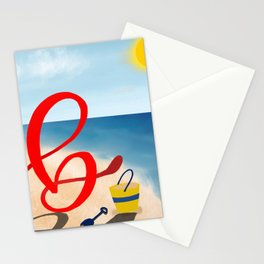 Baby B at the Beach Stationery Cards
