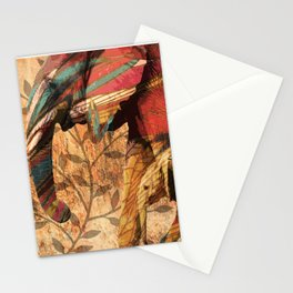 African Patterned Elephants Stationery Cards
