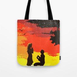 Proposal At Sunset Tote Bag