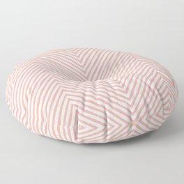 pink zigzag. retro Floor Pillow
