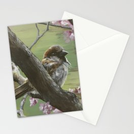 Sparrows of Spring 1 Stationery Cards