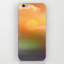 Sunrise  and sky. iPhone Skin
