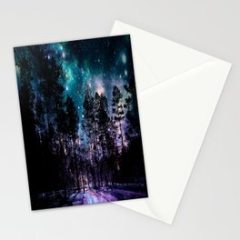 One Magical Night... teal & purple Stationery Cards