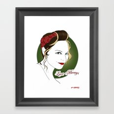 Blixt Framed Art Print