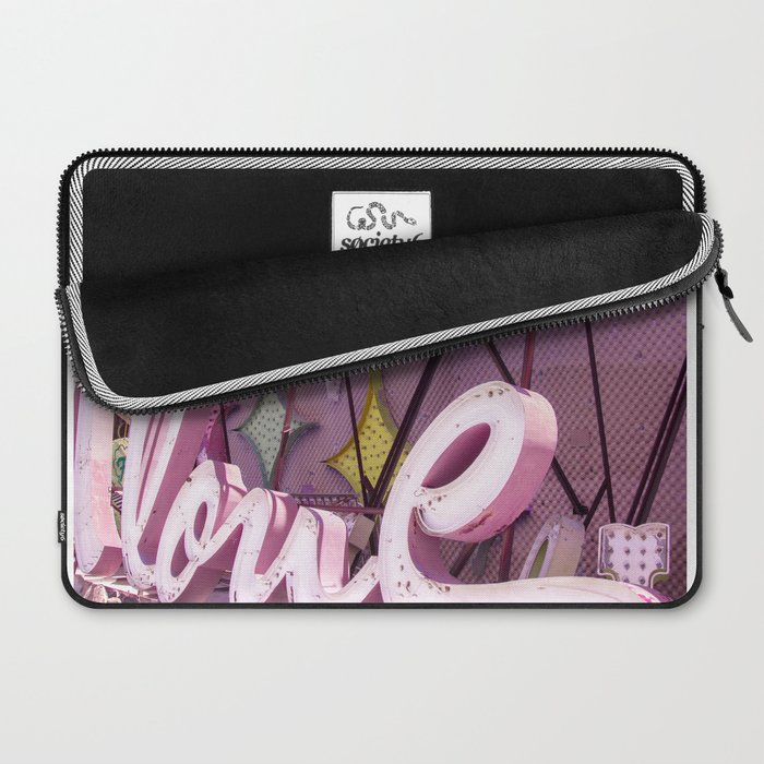 """Pink """"In Love"""" Sign at the Neon Museum in Las Vegas, Nevada Laptop Sleeve"""