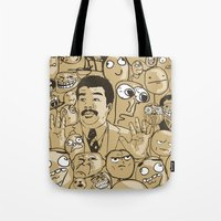 meme Tote Bags featuring Meme Color by neicosta
