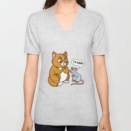 Funny Humor Sorry I'm Sorry Animals Funny Unisex V-Neck