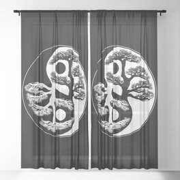 Yin Yang Tree Sheer Curtain