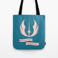 jedi Tote Bags featuring Jedi Blueprints by Travis English