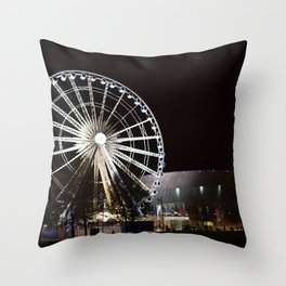 Liverpool By Night Throw Pillow