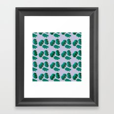 Monster tropical plants Framed Art Print