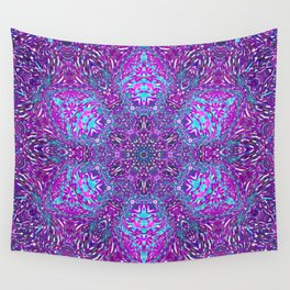 Pink, Purple, and Blue Mandala Wall Tapestry