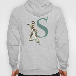 S is for Sifaka: Under Appreciated Animals™ ABC nursery decor green unusual animals Hoody