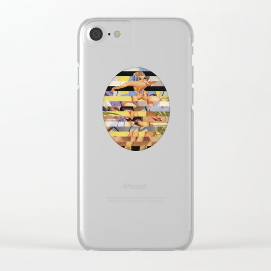 Glitch Pin-Up Redux: Courtney Clear iPhone Case