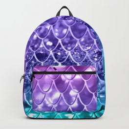 Mermaid Scales on Unicorn Girls Glitter #19 #shiny #decor #art #society6 Backpack