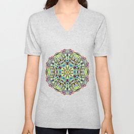 Beautiful Chrystal Glass Mandala Unisex V-Neck