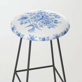 Blue asiatic pheasant Bar Stool