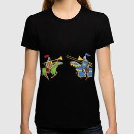 Jousting Funny Trombone T-Shirt For Trombonists T-shirt