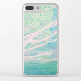 abstract - sea Clear iPhone Case