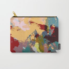 Hisasu - Abstract Colorful Retro Tie Dye Style Pattern Carry-All Pouch