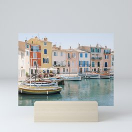 Colorful Canal in Martigues, Provence, France Mini Art Print