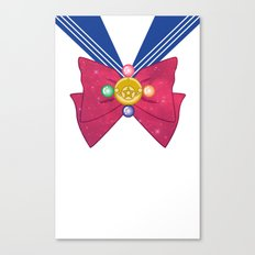 Galactic Sailor Moon Bow Canvas Print