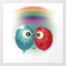 Hello Earthling - love Art Print
