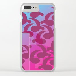 Comma Coma Clear iPhone Case