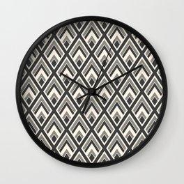 Diamond Pattern Light & Dark Wall Clock
